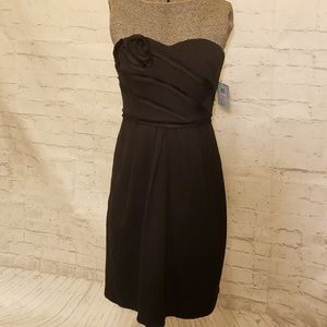 NWT Suzi Chin Black Strapless Dress